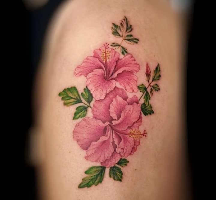Гибискус тату розовое