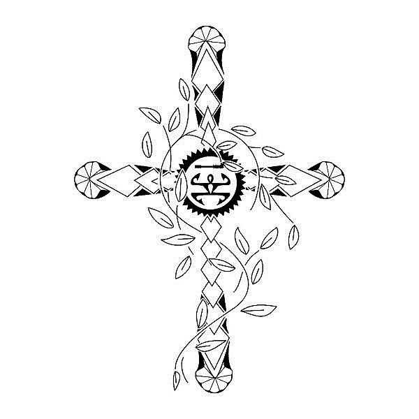 полинезия эскиз крест