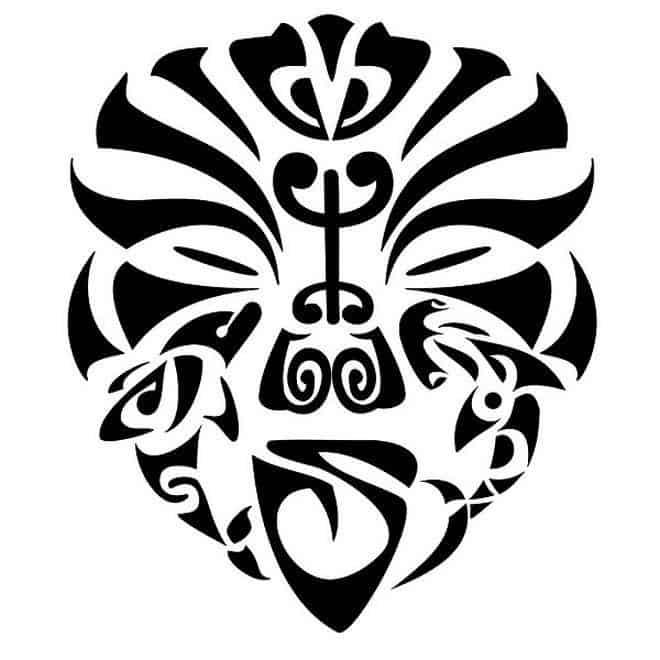 полинезия эскиз маска