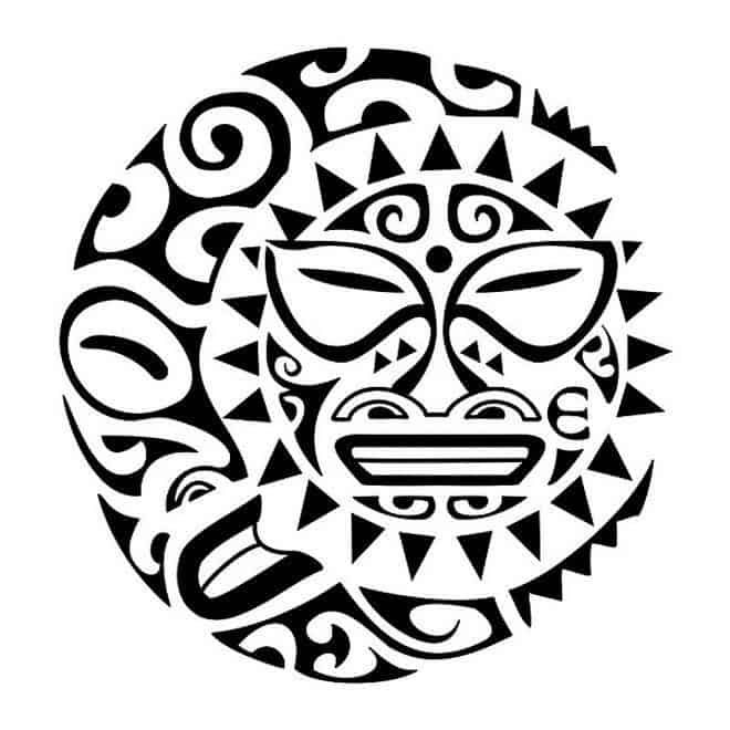 полинезия эскиз солнце