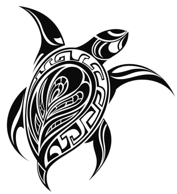 полинезия эскиз черепаха