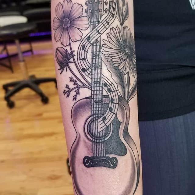 тату гитара акустика