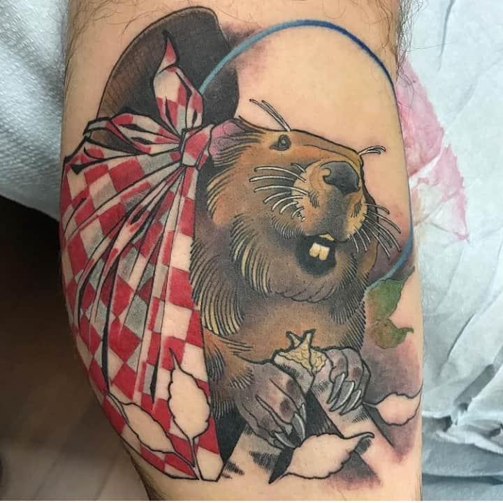 татуировка бобер