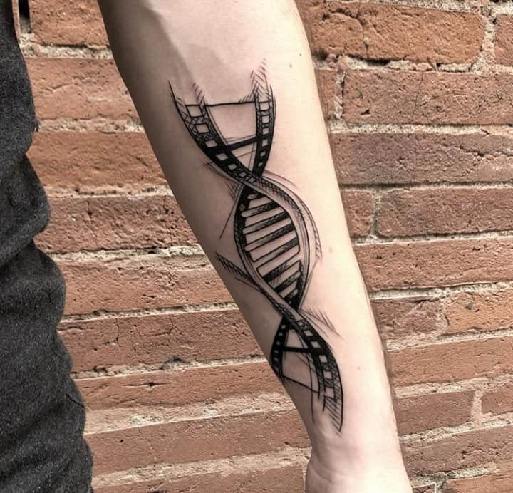 спираль днк тату