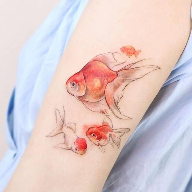 золотые рыбки тату