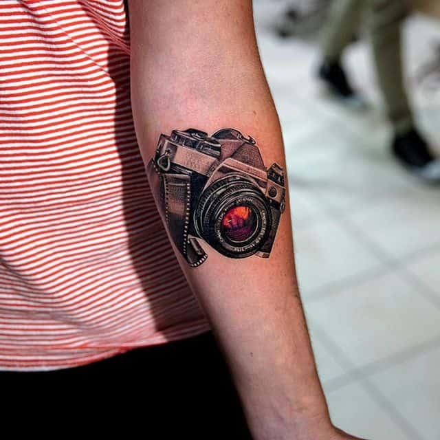фотоаппарат тату черный
