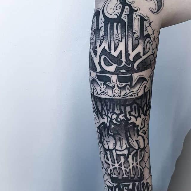 шрифты разных стилей для тату