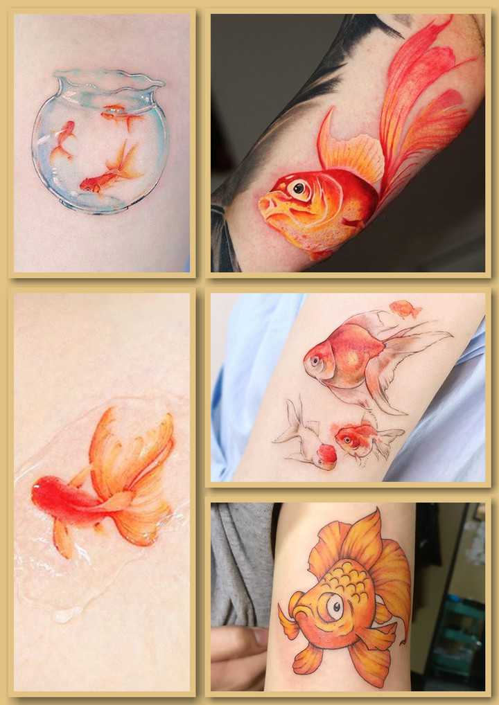 золотая рыбка тату